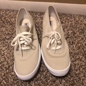 Keds 9.5 Canvas Tan Sneakers
